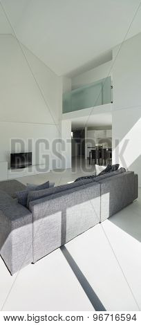 architecture, interior modern living room, back view divan
