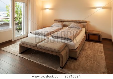 Interior architecture, bedroom, nobody inside