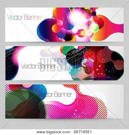 Abstract colorful banner design vector template