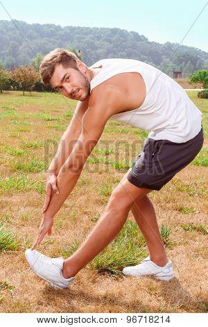 Nice guy stretching