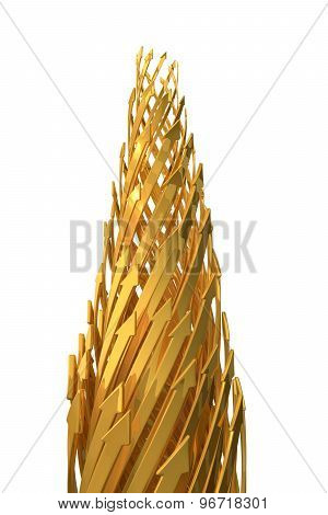 Abstract Background Of 3D Arrows.