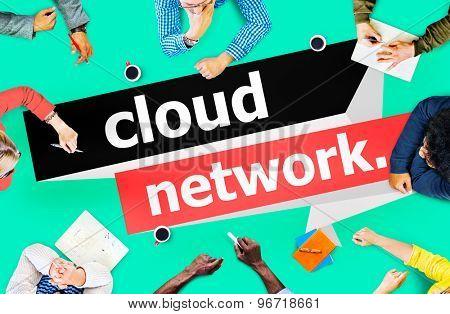 Cloud Network Computing Storage Online Concept