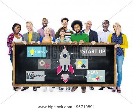 Start up Innovation Planning Ideas Team Success Concept