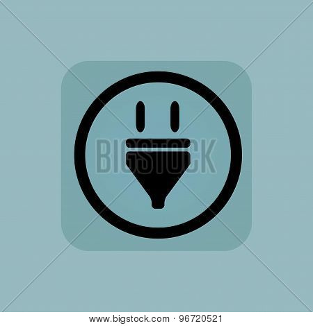 Pale blue plug sign