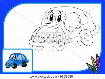 Coloring Book. Car