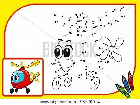 ?oloring Book (dot To Dot Helicopter)
