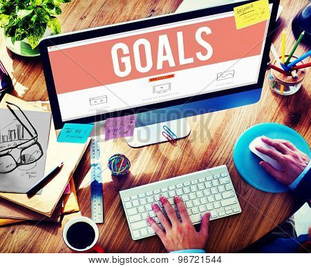 Goals Aspiration Achievement Inspiration Target Concept