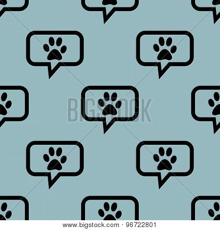 Pale blue animal message pattern