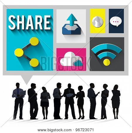 Share Social Networking Global Communication Concept