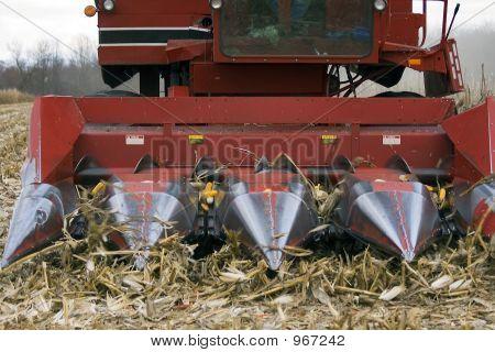 Corn Combine Action