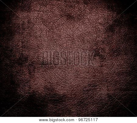 Grunge background of deep coffee leather texture