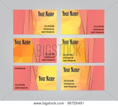 Set of six visit cards