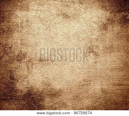 Grunge background of deep peach leather texture