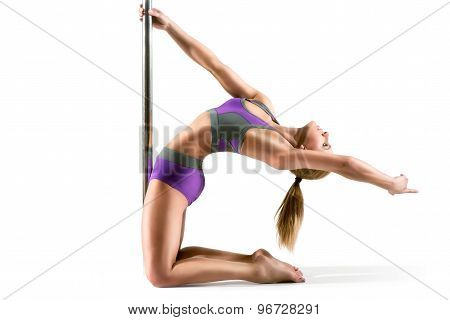 Pole dancer woman