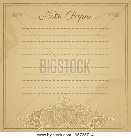 Vintage Ornate Background