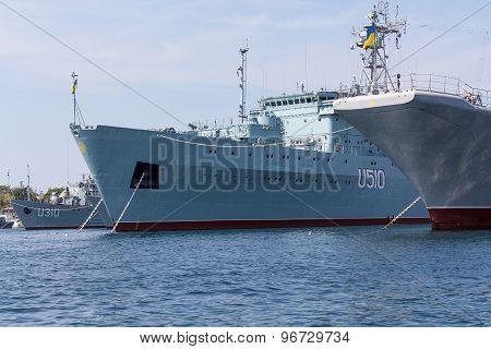 Ukraine, Sevastopol - September 02, 2011: Court Ukrainian Navy In Sevastopol Until The Establishment