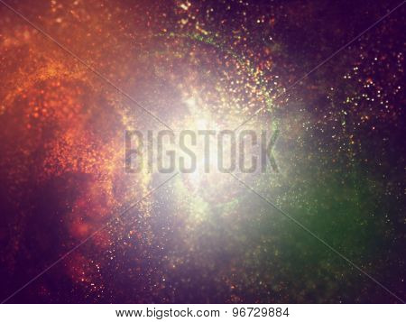 Particles Formation Indian Tricolors Background