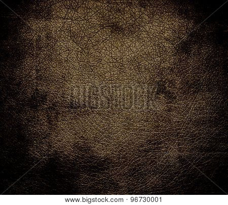 Grunge background of donkey brown leather texture
