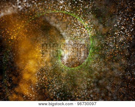 Particles Formation Tricolors Background