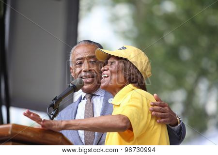 Rev Al Sharpton & Hazel Dukes