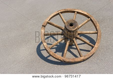 Ancient Ukrainian wheel for peasant cart