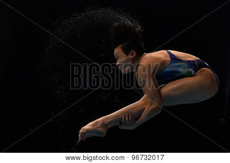 LONDON, GREAT BRITAIN - APRIL 27 2015:  during the FINA/NVC Diving World Series at the London Aquatics Centre