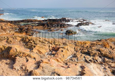 Rocky shore of the Atlantic Ocean