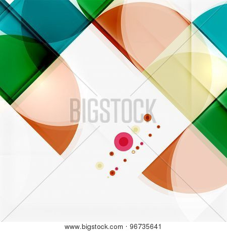 Semicircle triangle pattern. Abstract mosaic background, online presentation website element or mobile app cover
