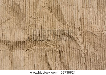 Texture Of Wrinkled Corrugated Paper