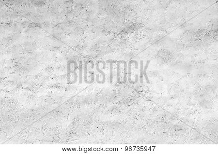 Empty White Concrete Wall With Plaster Relief Pattern