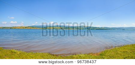 Panorama Of Lake On A Sunny Day