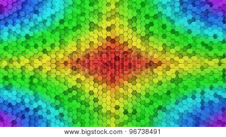Random Elevated Hexagon Columns Background