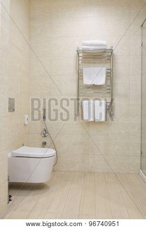 Interior of a hotel bathroom