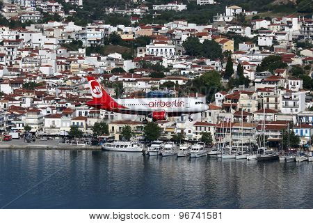 Air Berlin Airbus A319 Airplane Skiathos Airport