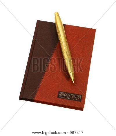 Notebook With Gold Pen