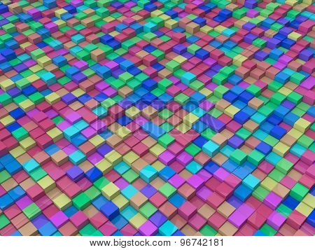 Random Colored Cubes