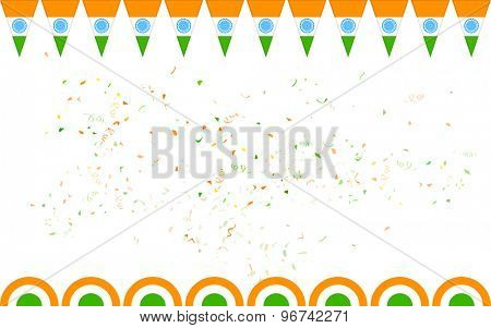 illustration of tricolor India banner for sale and promotion