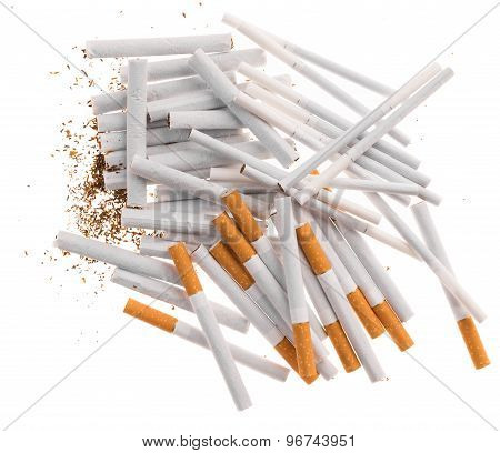Heap of cigarettes.