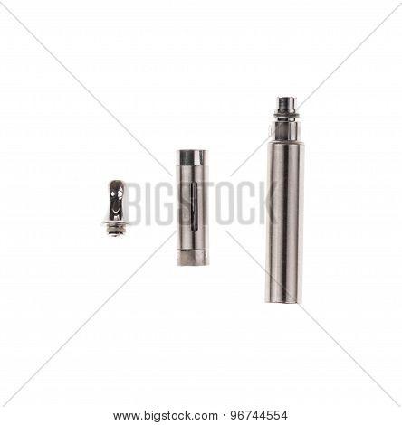 Big metal electronic cigarette.