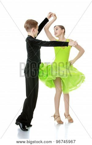 Young dancers in motion