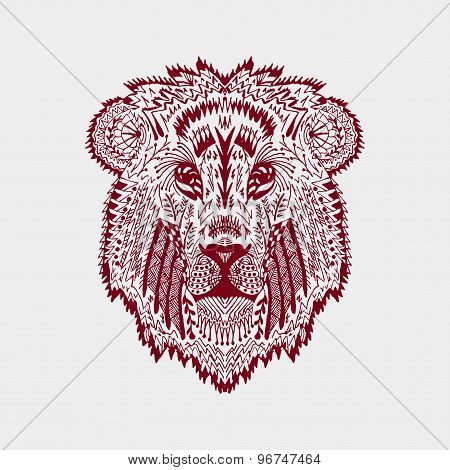Zentangle Stylized Lion Head