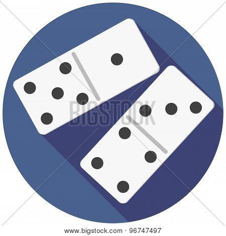 Vector illustration of dice domino