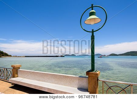 Lamp At Sea Viewpoint In Panwa Cape, Phuket, Thailand