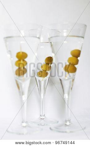 Three Martini Cocktails