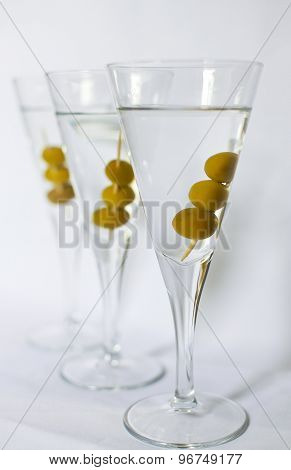 Three Martini Cocktails