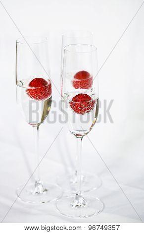 Three Glasses Of Champagne