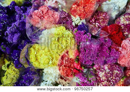 Colorful flowers bunch bouquets pattern texture