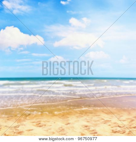 Abstract Background With Summer Sea And Golden Sand Beach