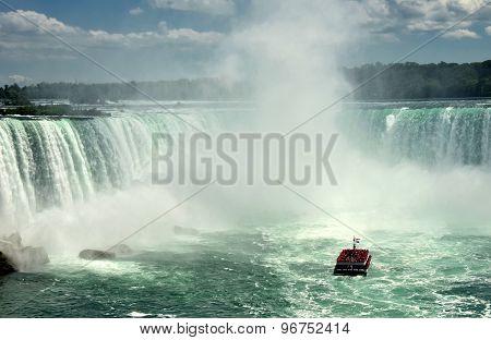 Tour Boat Near Niagara Falls