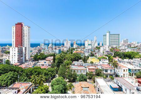 Vedado neighborhood in Havana, Cuba
